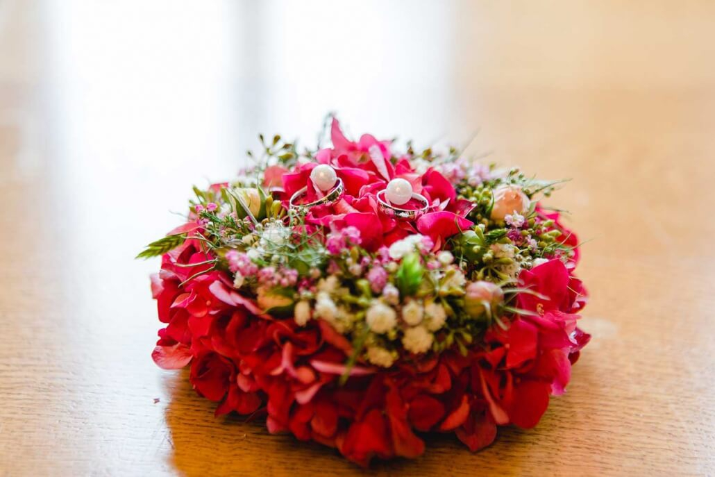 Ringkissen Blumen
