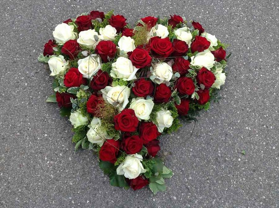 Trauerkranz Herz
